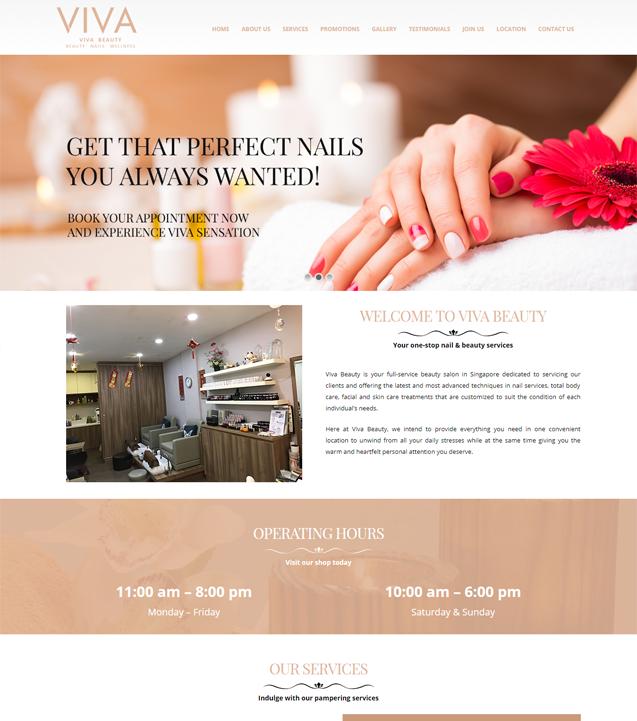 Viva Beauty Website
